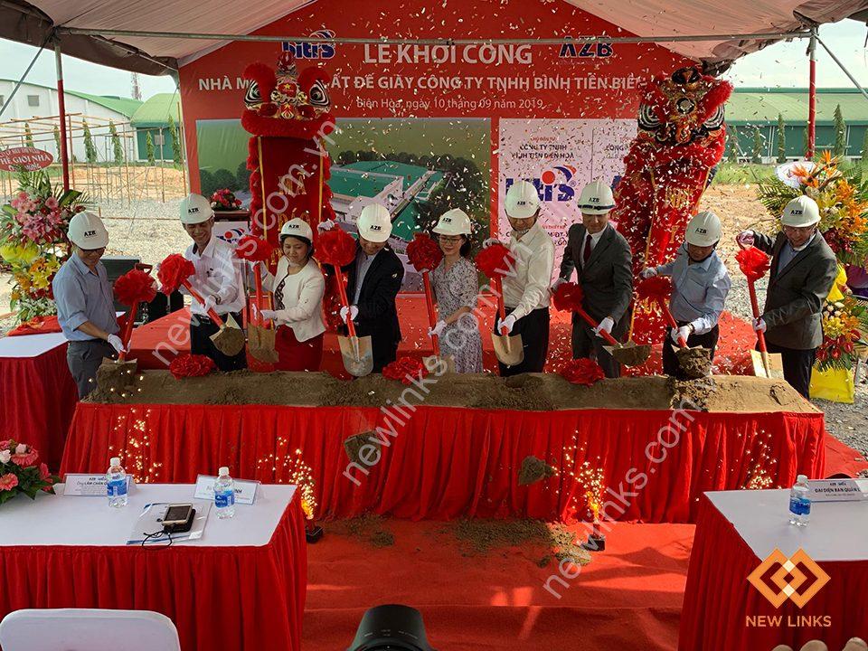 Tổ chức Lễ khởi công nhà máy công ty Bình Tiên Biên Hòa