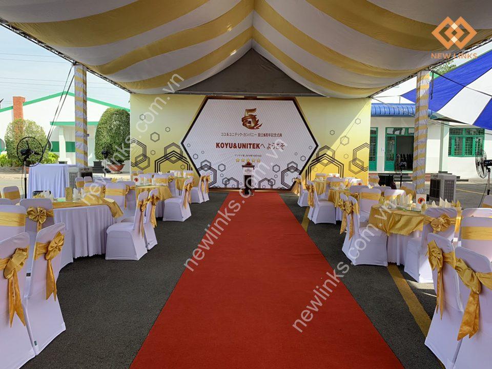 Tổ chức Lễ kỉ niệm 5 năm thành lập công ty TNHH KOYU & UNITEX