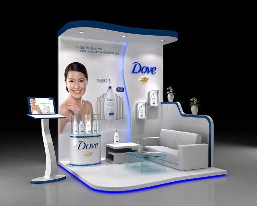 booth quảng cáo Dove